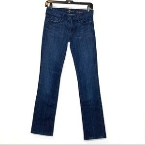 7 For All Mankind Straight Leg Dark Jeans